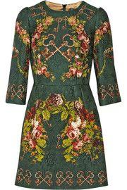 Dolce & GabbanaPrinted matelassé mini dress