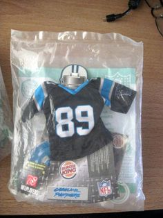 NEW 2007 Burger King Toy NFL Jersey Carolina Panthers # 89 STEVE SMITH #NFL…