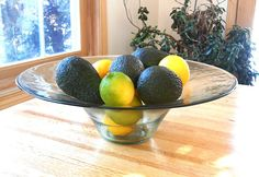 Eco-friendly recycled glass large bowl 15 inches by CuchiOrganics