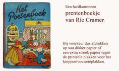 printable mini children's book (including inner pages) MINIDESIGN: Het Poesenboek van Rie Cramer
