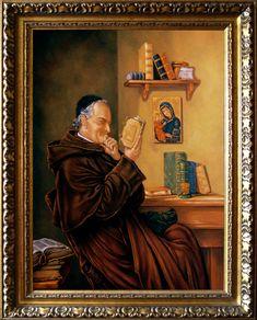 Cisza, Słowo Boże,  70cm x 52cm,  Obraz olejny na płótnie