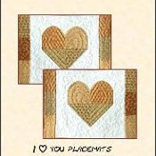 LOVE YOU Placemats - via @Craftsy