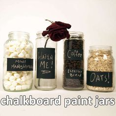 Chalkboard paint jars