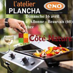 Atelier Plancha ENO dimanche 16 avril chez Coté Nature à Allonne -Beauvais - Cours de cuisine à la plancha avec un chef pour apprendre à cuisiner sur la Plancha ENO. Conseils et astuces de cuisson et de nettoyage. Cours de cuisine sur réservation auprès du magasin au 03 44 14 30 50