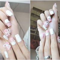 Items similar to Nails-kawaii japanese gyaru fake nails art.pink and white. on Etsy New Birthday Cake, Birthday Gifts For Sister, Birthday Nails, Birthday Bash, Wow Nails, Pretty Nails, White Nails, Pink Nails, Birthday Message For Boyfriend