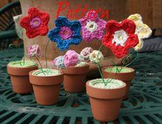 Mini- pot plants PDF crochet pattern UK notation on Etsy, $4.50