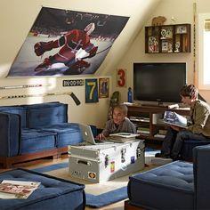 teen bedroom blue furniture