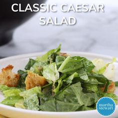 Classic Caesar Salad is part of Classic caesar salad Crisp romaine, pepperandbutter croutons, and grated Parmesan are tossed with traditional Caesar dressing - Easy Ceasar Salad, Classic Caesar Salad, Seafood Recipes, Wine Recipes, Chicken Recipes, Seafood Boil, Grilled Chicken Ceasar Salad, Ceasar Salat, Salad Dressing Recipes