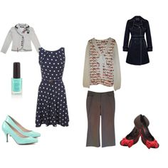 "What I Wore to Work this Week: ""Mint & Navy / Grey & Pink"" by certainstyle on Polyvore"