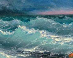 Evaening Pacífico pintura al óleo original por vladimirmesheryakov