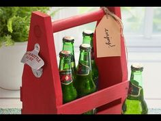 How to Make a Beer Tote/Caddy - YouTube