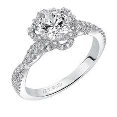 Monique ArtCarved Diamond Engagement Ring