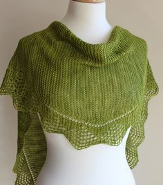 Sweet Summer Shawl by Michelle Krause. malabrigo Sock, lettuce colorway