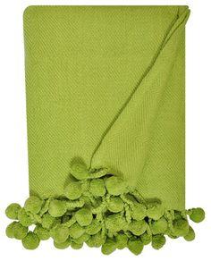 Pom Pom Throw in Kermit Green