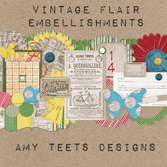 digital scrapbook kit vintage embellishments emphera