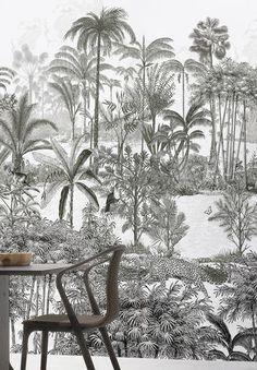 Tropical Homes Decor Tropical House Design, Tropical Home Decor, Tropical Interior, Tropical Colors, Tropical Pattern, Tropical Houses, Tropical Furniture, Green Pattern, Wallpaper Bali