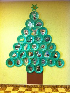 Pappteller Weihnachtsbaum