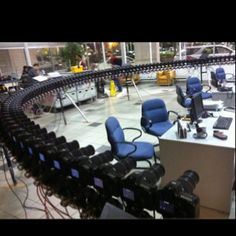 Awesome setup. I never get tired of seeing all these cameras synced.