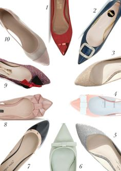 SPRING 2014: POINTED FLAT SHOES