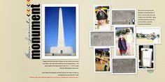 Scraps of Shirlee: San Jacinto Monument scrapbook layout texas