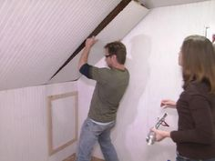 HGTV.com shows you how to turn an unfinished attic into a walk-in closet.