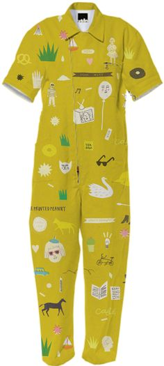 Brilliant Ideas Doodle Jumpsuit by The Printed Peanut #fashion #print