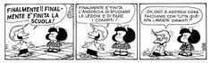 E non capita a tutti qualcosa di simile? Si lotta guardando il traguardo ma quando lo abbiamo raggiunto .... è ora di cercarne un altro :)  #mafalda, #quino, #fumetti, #comics, #liberta, #scuola, #italiano,