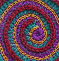 Great tutorials on different ways to surface embellish crochet.