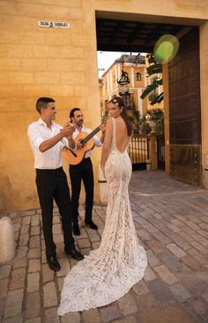 Trendy Wedding Dresses : low back wedding dress // Seville: The Latest Berta Wedding Dress Collection Berta Wedding Gowns, Berta Bridal, Wedding Dress Low Back, Lace Wedding Dress With Sleeves, Bridal Collection, Dress Collection, Spanish Style Weddings, Diy Wedding Decorations, Wedding Ideas