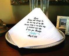 Groom Handkerchief -Hankie - Hanky - Best day of my life - First day as HUSBAND and WIFE - Gift for Groom from Bride - Bridal Wedding Wedding Gifts For Groom, Bride And Groom Gifts, Father Of The Bride, Wedding Tips, Wedding Planning, Wedding Stuff, Dream Wedding, Bride Groom, Fall Wedding
