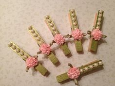 Shabby Chic Christmas Ornaments | Shabby Chic Wood Pins Christmas Tree Ornament Paper by StuffDepot, $3 ...