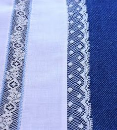 Sewing lace edging to fabric is easy and very pretty!