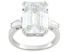 Charles Winston For Bella Luce (R) 13.54ctw Rhodium Plated Silver Ring