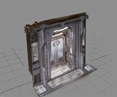 This is a 3D model of a Door concept by Jason Courtney for Dead Space 3. The thing that I like about this is how, although it is a flat shape, the texture on the surface makes it look as if there is actually a small intrusion to get to the door. I could use this in my GDD as it will help keep my poly count low so the game will run more smoothly.