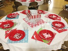 Relief Society Christmas Dinner from Occasionally Crafty