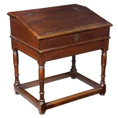 William & Mary Desk On Frame, Hard Pine, Probably Southern   From a unique collection of antique and modern desks at http://www.1stdibs.com/furniture/storage-case-pieces/desks/