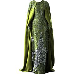 edited/created by dina_s ❤ liked on Polyvore featuring dresses, gowns, long dresses, green, green ball gown, green evening gown, green gown, green dress and long green evening dress