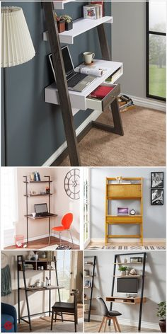 Shop Target for ladd Home Office Design, Home Office Decor, Diy Home Decor, Room Ideas Bedroom, Diy Bedroom Decor, Home Office Furniture, Diy Furniture, Recycled Furniture, Ladder Desk
