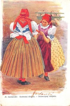 B13339+Czech+National+Wear+Folk+Moravian+from+Brno+PPC