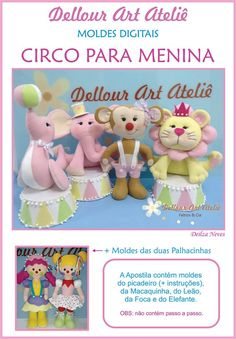 feltro circo rosa - Pesquisa Google