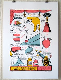 The Gentleman Relishes - Paul Bommer Relish Sauce, Graphic Art, Graphic Design, Lent, Limited Edition Prints, Paper Size, Illustrations Posters, Gentleman, Screen Printing