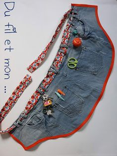 Upcycled Clothing 567805465520163816 - Du fil et mon…: Ceinture Recyclage TUTO DIY Source by Sewing For Dummies, Artisanats Denim, Jean Diy, Selling Handmade Items, Diy Vetement, Creation Couture, Refashion, Sewing Projects, Sewing Patterns