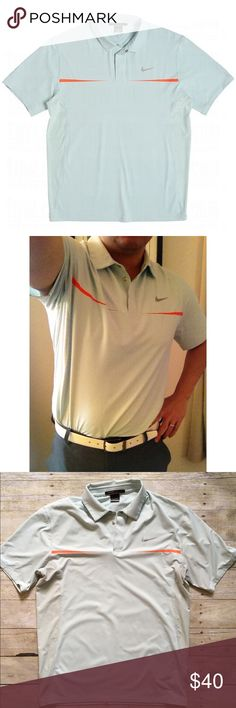 Nike Golf Tiger Woods Collection dri-fit mens polo Style meets efficiency with the Tiger Woods TW Chest Stripe Polo by Nike. This two-button placket polo sports a pique body and perforated side panels, increasing breathability. Dri-FIT technology wicks sweat away from your body for quicker evaporation, leaving you dry throughout your game. This striped polo also provides stretch, increasing range of motion and maximizing comfort. This shirt is a symbol of comfort and class, and is a wardrobe…