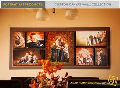 Love that layout of photos for a photo wall.