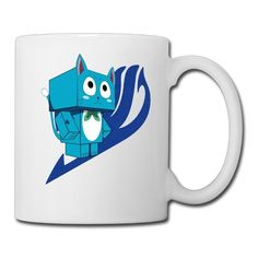 Cool Fairy Tail Happy Ceramic Coffee Mug, Tea Cup | Best Gift For Men, Women And Kids - 13.5 Oz, White *** See this awesome image  : Cat mug