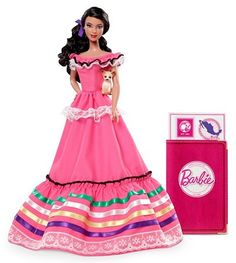 Dolls of the World 2012  MEXICO  BARBIE® DOLLS OF THE WORLD® Mexico BARBIE® Doll: Barbie® doll is loved around the world, and the Dolls of the World® collection returns the love with Barbie® dressed in aspirational versions of ancestral dress from various countries. Mexico Barbie® looks wonderfully bright .   $34.99  http://www.angelicdreamz.com/2012-Barbie-Dolls-of-the-World-Mexico-Pre-Order-Item-July-Delivery_p_11057.html