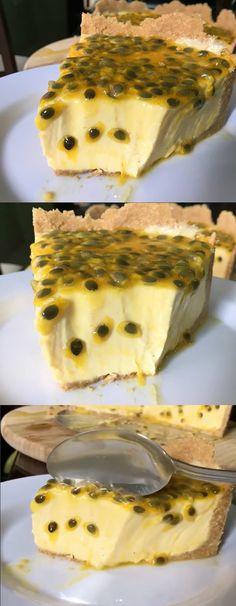 TORTA DE MARACUJÁ SUPER CREMOSA DE 5 INGREDIENTES #Torta #TortaDeMracuja#byigorhealthy
