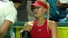 7/19/14 Kristina Mladenovic falls to #1-Seed Caroline Wozniacki 2-6, 3-6 in the SFs of the Istanbul Cup 2014.