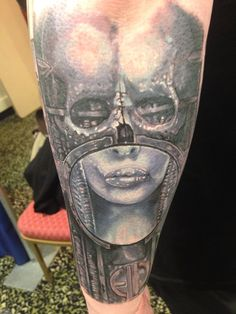 Giger sleeve forearm Hr Giger Tattoo, Skin Art, Dark Art, Sleeve Tattoos, Tatting, Body Art, Tattoo Ideas, Ink, Portrait