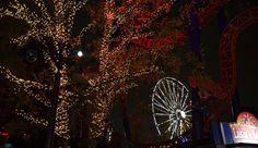 Great athmosphere at Light Carnival in Linnanmäki amusement park in October. Photo Päivi Romo